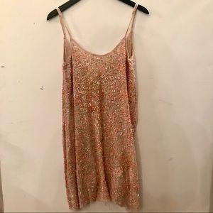 All Saints Pink Beaded Dress